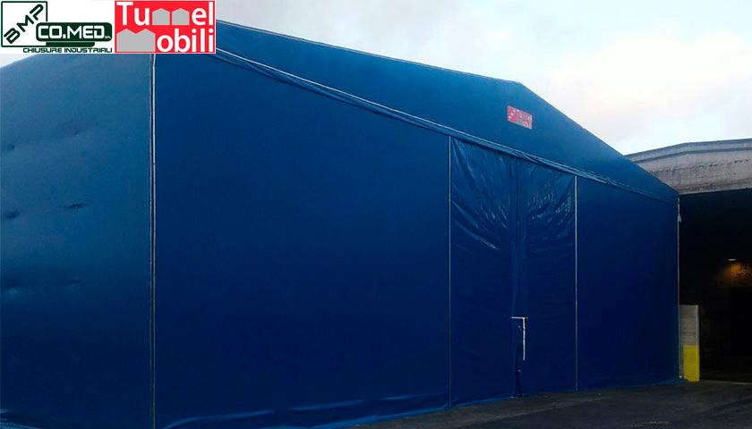 coperture mobili per capannoni Tunnel Mobili
