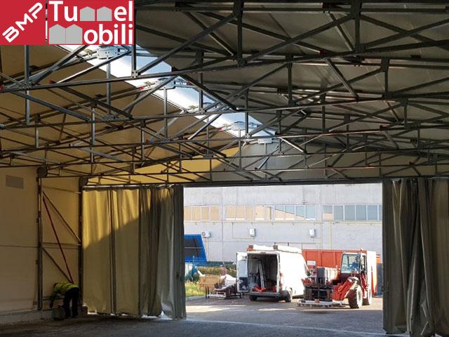 capannoni mobili bipendenza laterale in pvc per la campania