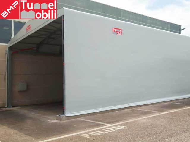 capannoni in pvc bipendenza laterale B.M.P Tunnel Mobili