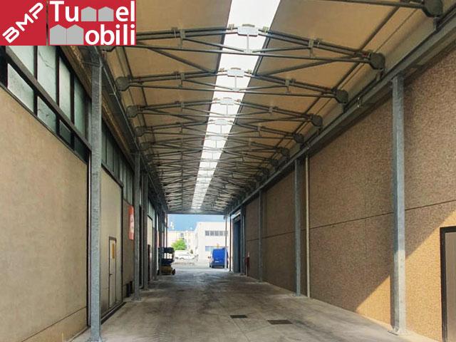 capannoni mobili a bifalda sospesa Tunnel Mobili